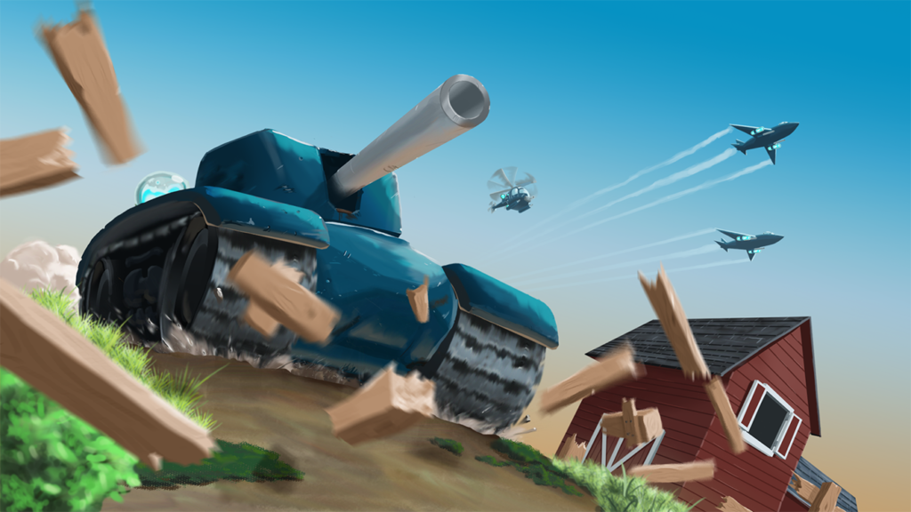 Republic tanks smash through the pastoral homeland of the Separatists.